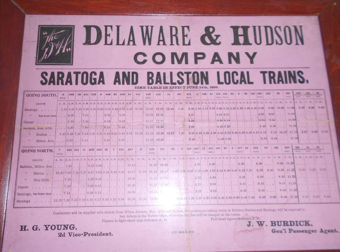 2 Framed Early Delaware & Hudson Schedules - 3