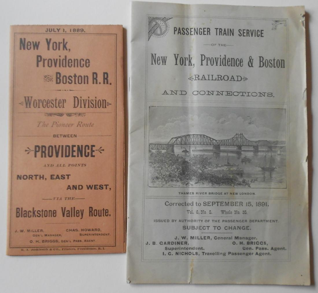 New York Providence & Boston Timetables 1800s
