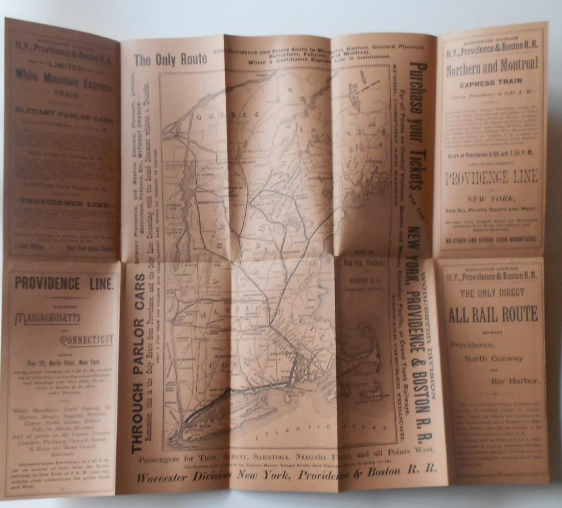 New York Providence & Boston Timetables 1800s - 2