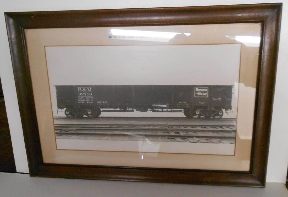 Framed Bethlehem Steel B&M Gondola