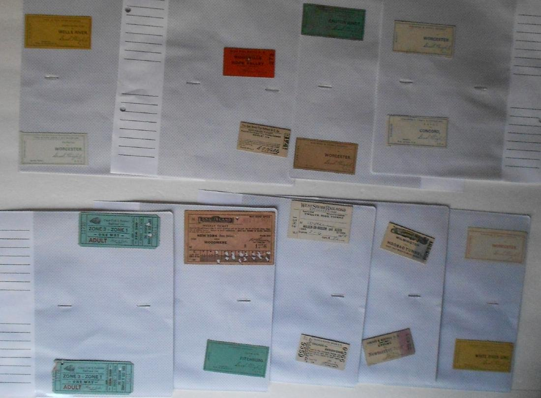 Notebook Railroad Tickets Stubs Etc.