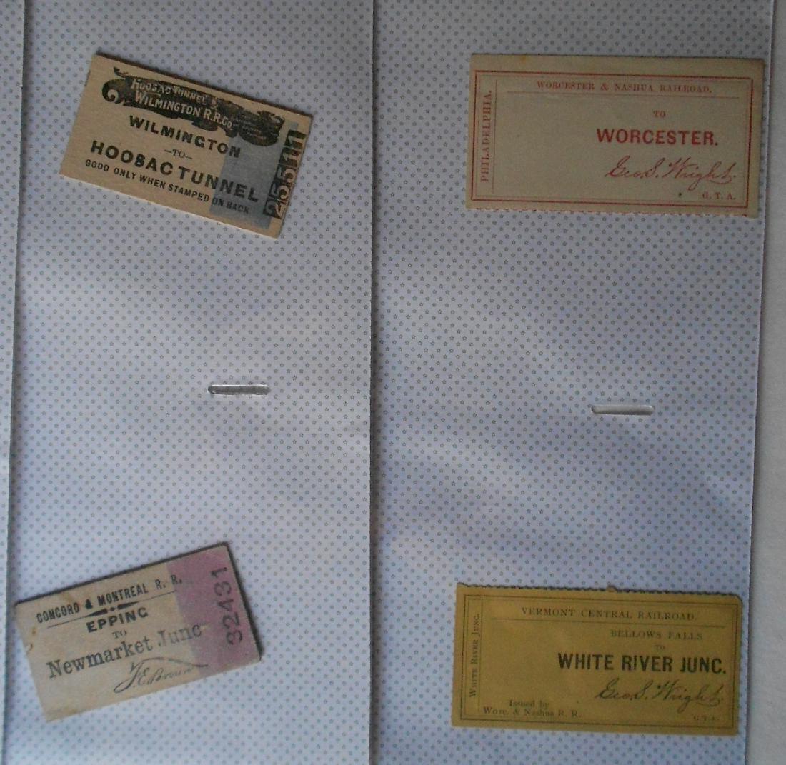 Notebook Railroad Tickets Stubs Etc. - 2
