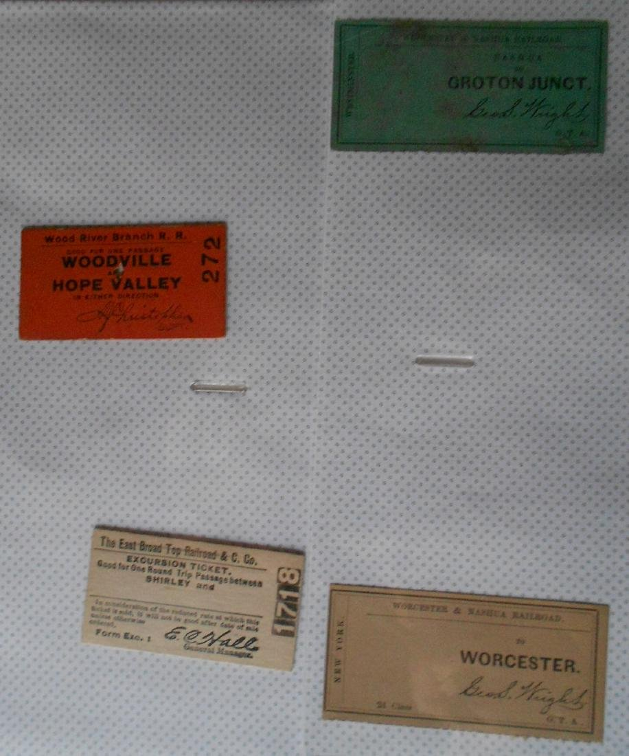 Notebook Railroad Tickets Stubs Etc. - 3