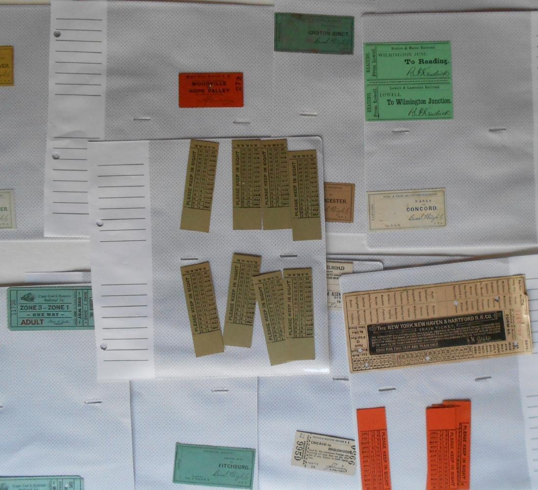 Notebook Railroad Tickets Stubs Etc. - 4