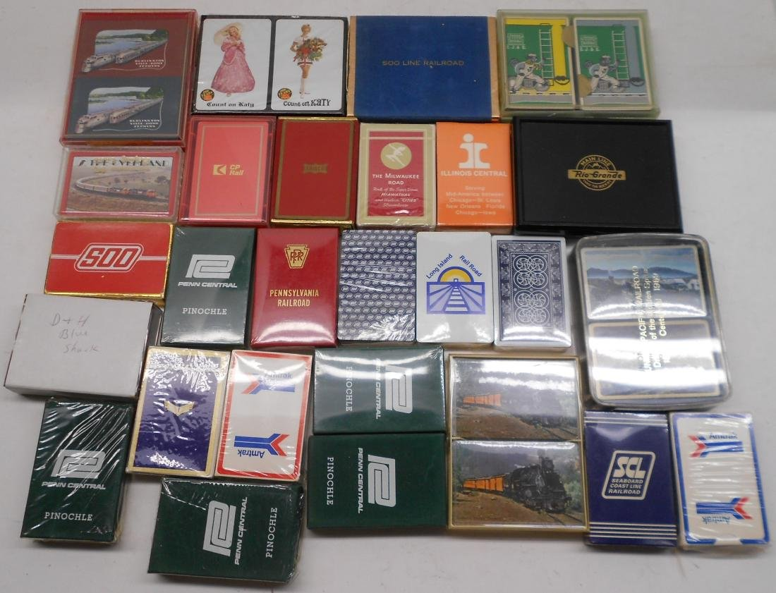 34 Decks of Railroad Playing Cards