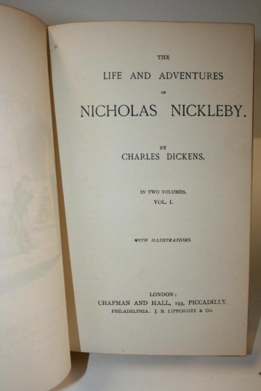 Books: Dicken's Works ca. 1875 - 5