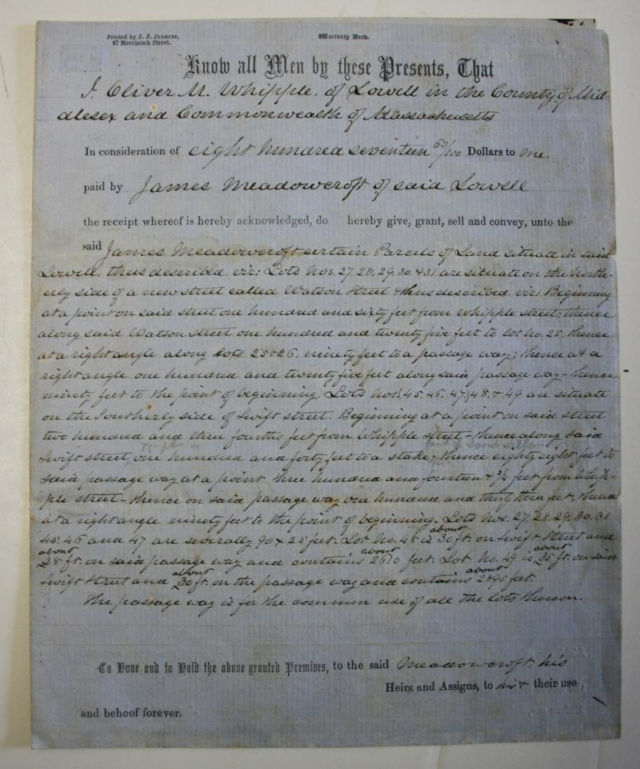 Document: Mass.  deed dated 1855