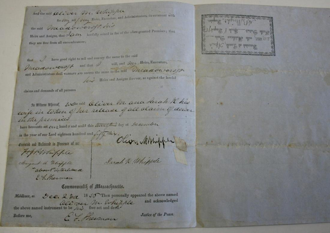 Document: Mass.  deed dated 1855 - 2