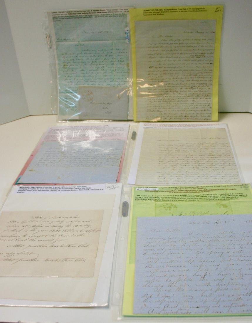 Letters: Early NH, ca. 1791-1890