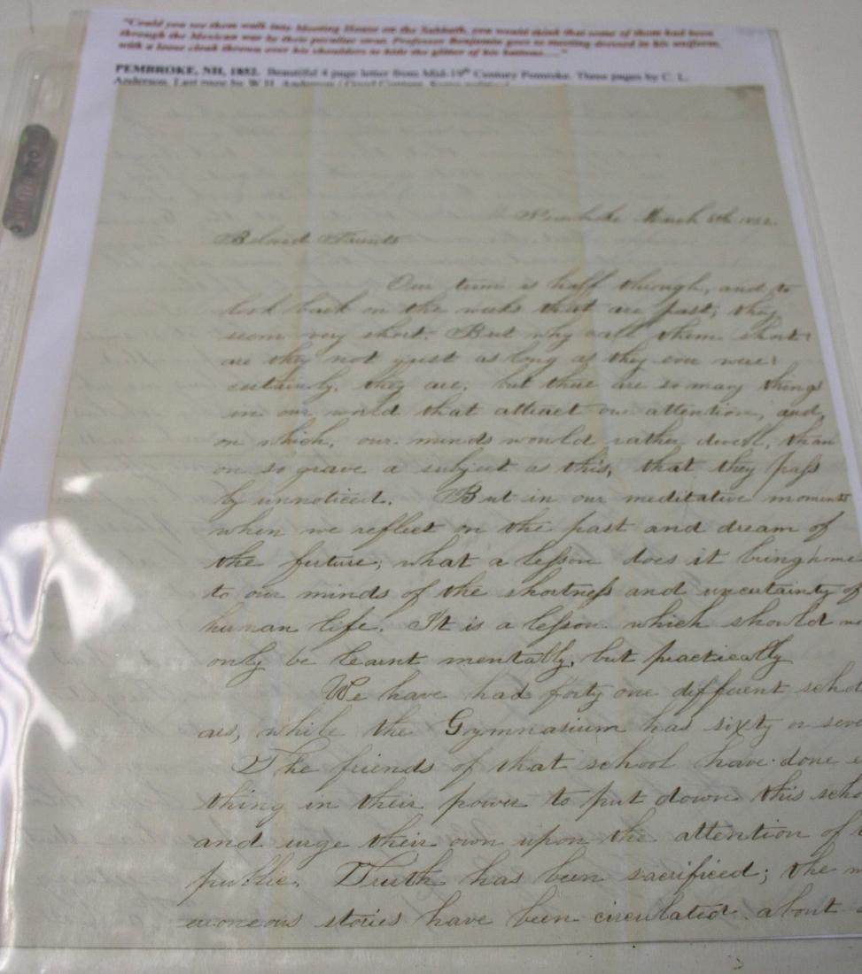 Letters: Early NH, ca. 1791-1890 - 4