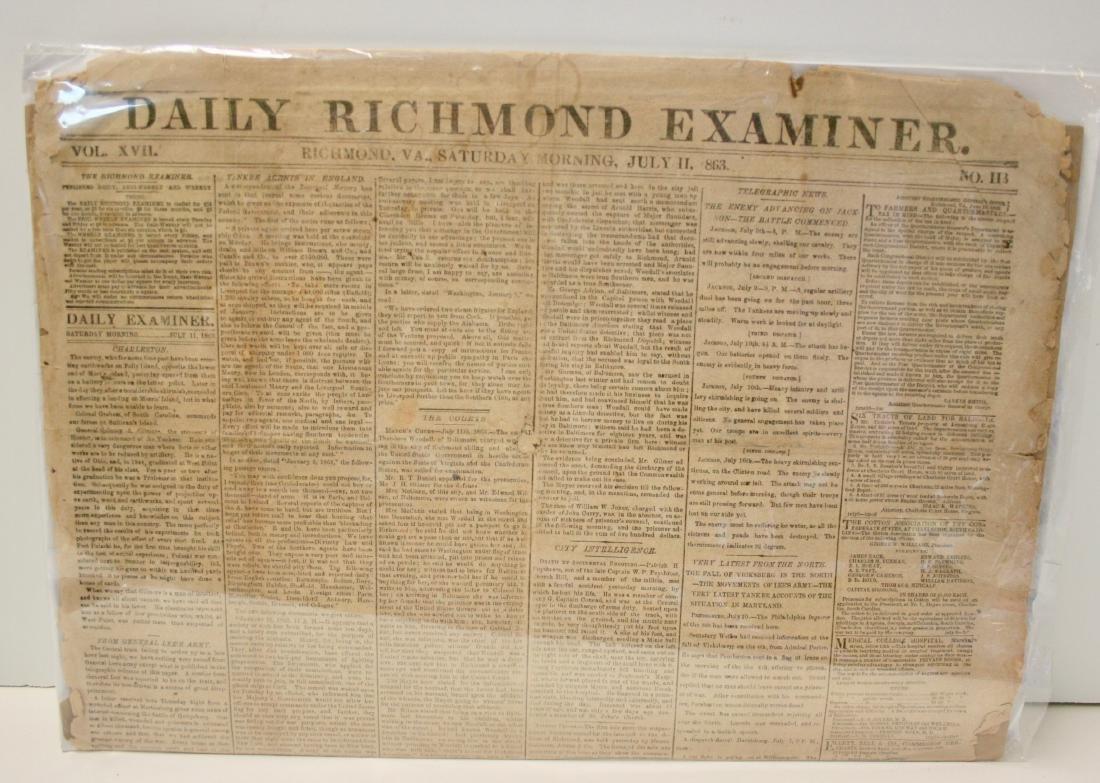 Newspaper: Civil War era,  1863