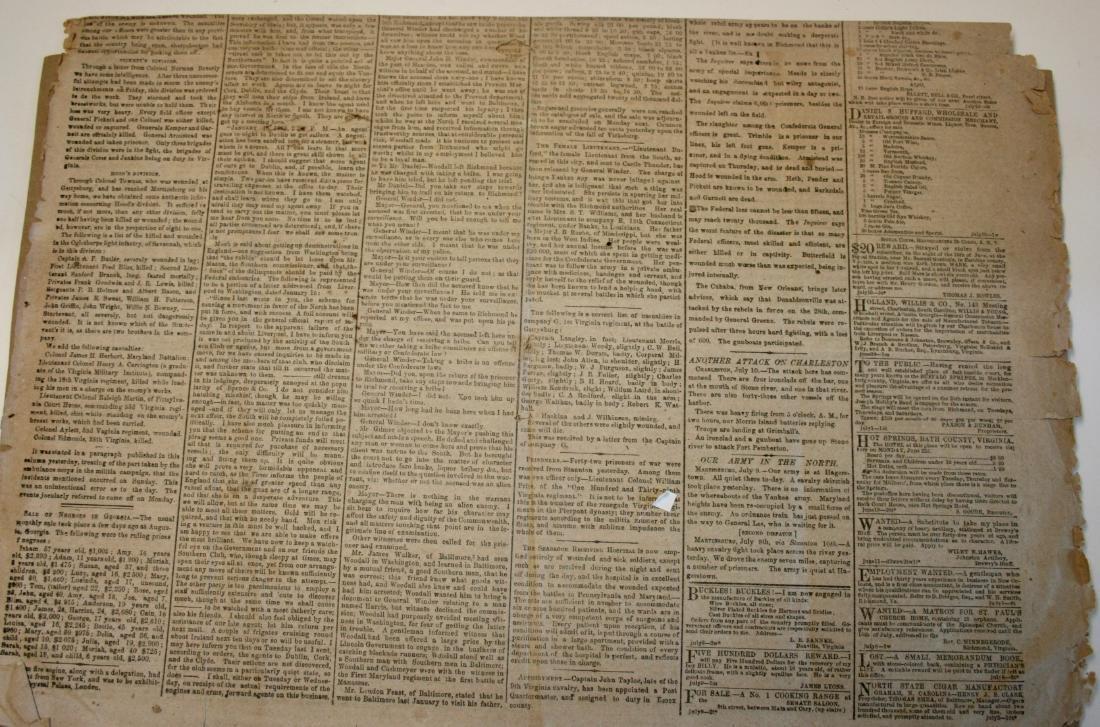 Newspaper: Civil War era,  1863 - 2