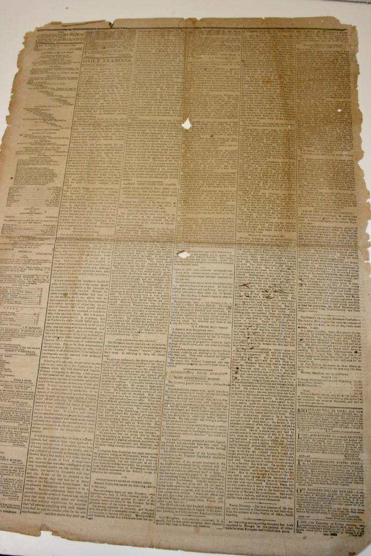 Newspaper: Civil War era,  1863 - 4