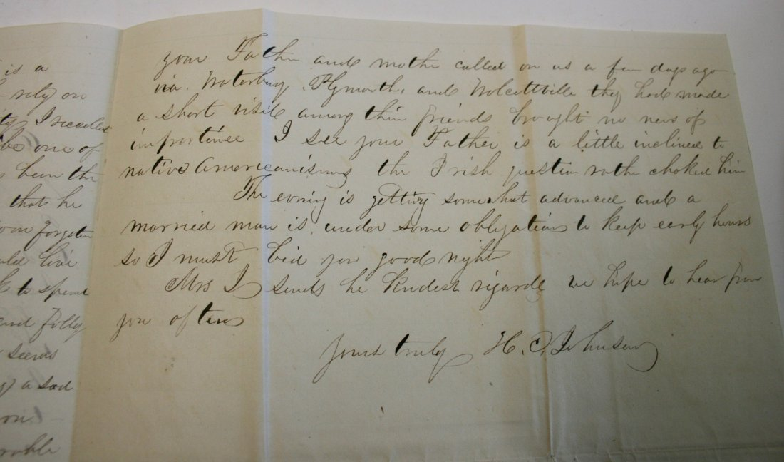 Letters: By Horace C. Johnson, Listed artist,  1863 - 3