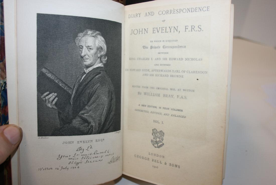 Books: john Evelyn 1906, - 5
