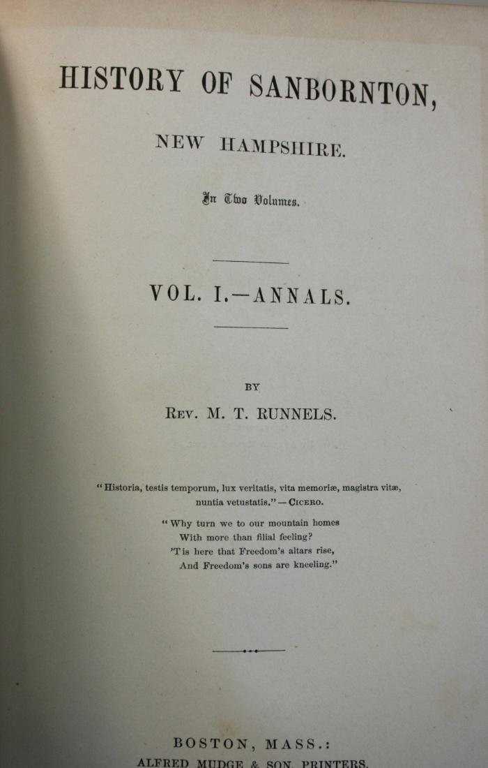Books: NH Town History - 2