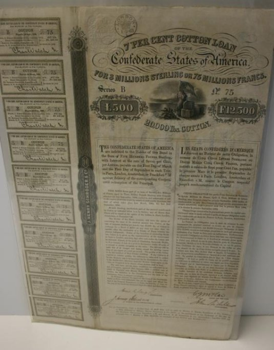 Broadside: CW Era Lottery Ticket,  1861, Rare, & Cotton - 4