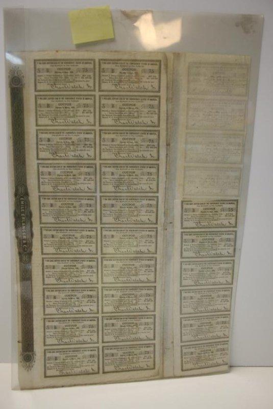 Broadside: CW Era Lottery Ticket,  1861, Rare, & Cotton - 5