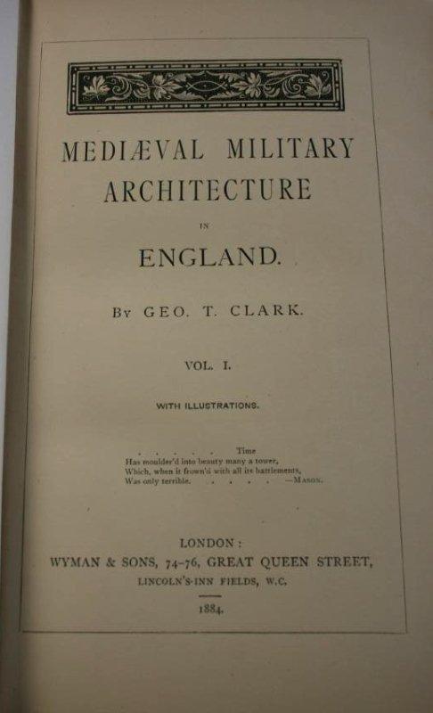 Books: Mid- Evil Architecture,  London 1884 - 4