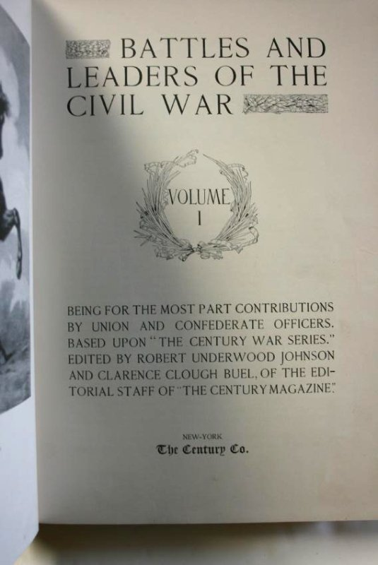 Books:  Battles & Leaders of the Civil War, 1887 - 4