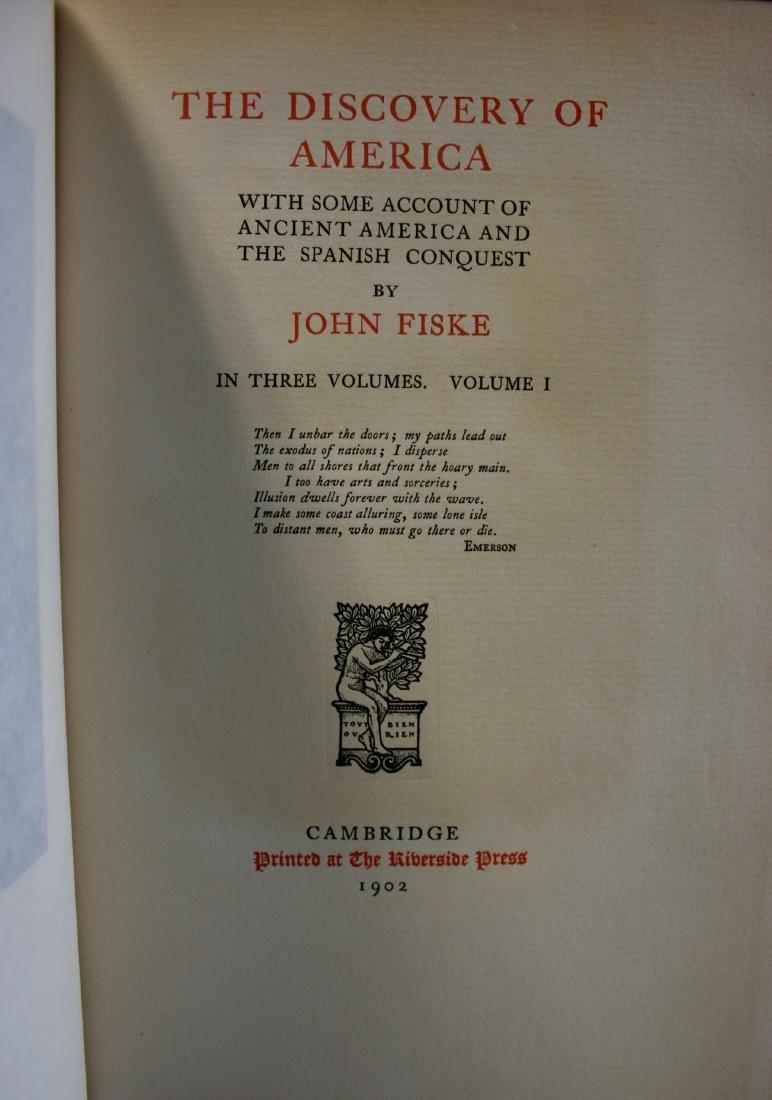 Books: Writings of John Fiske, 1902 - 6