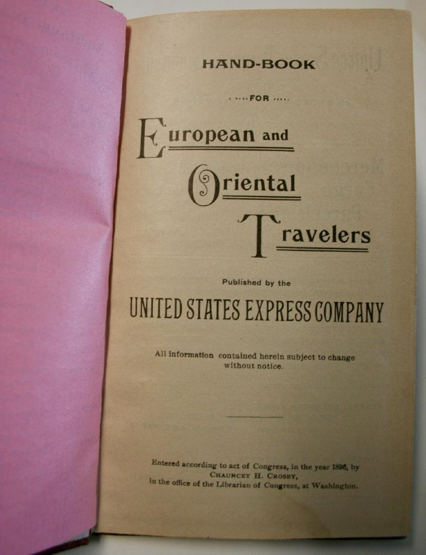 Books: Handbook for European & Oriental Travelers 1896 - 3