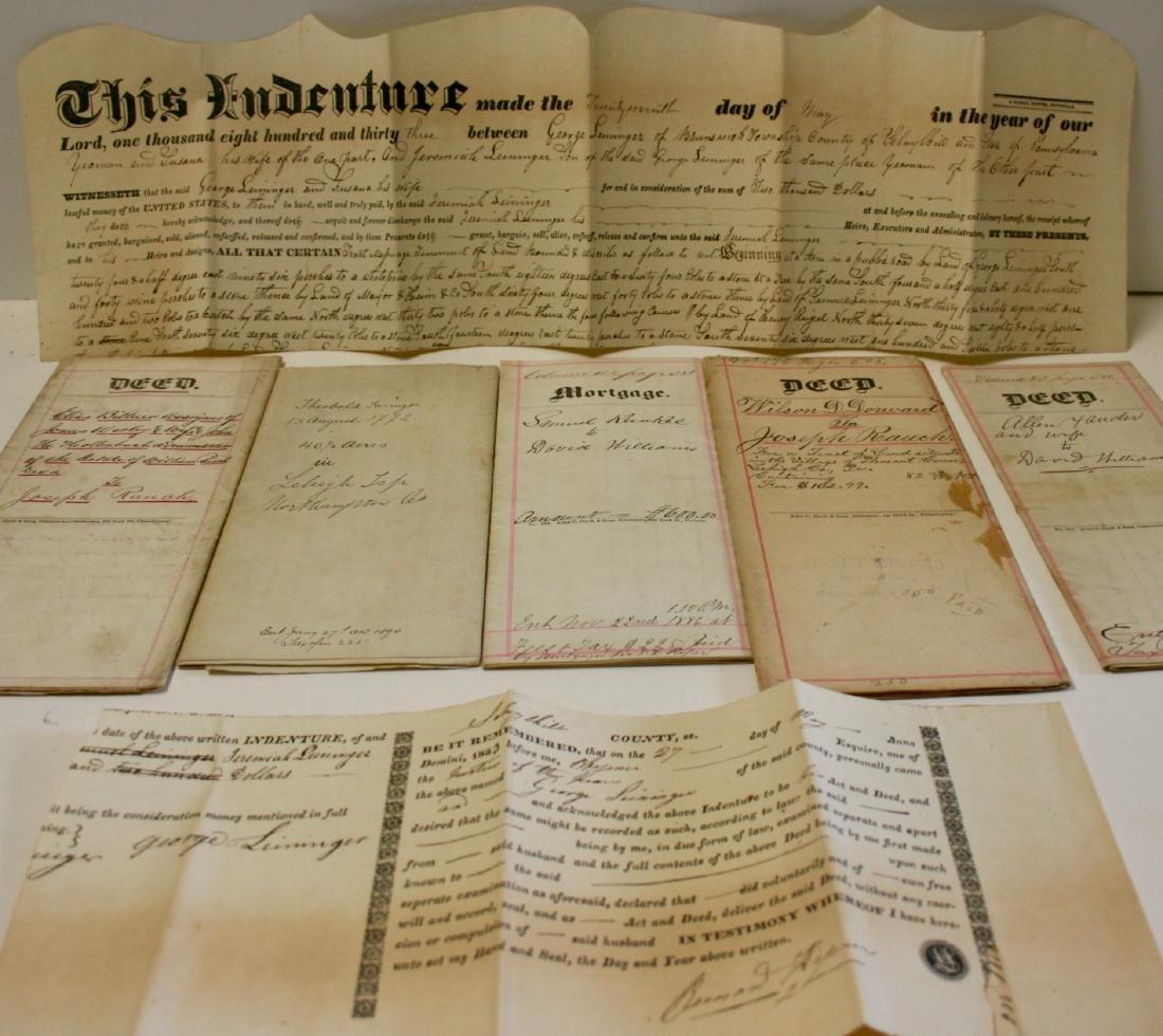 Documents: Lehigh, Pa. early deeds, 1860
