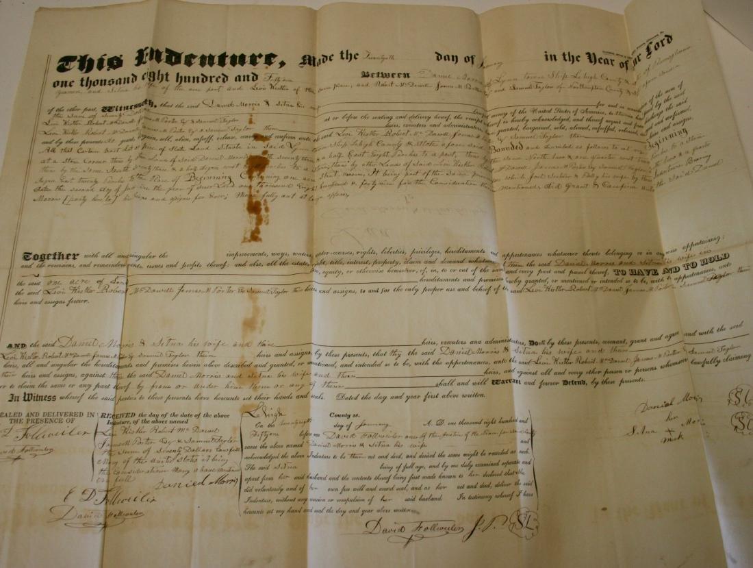 Documents: Lehigh, Pa. early deeds, 1860 - 4