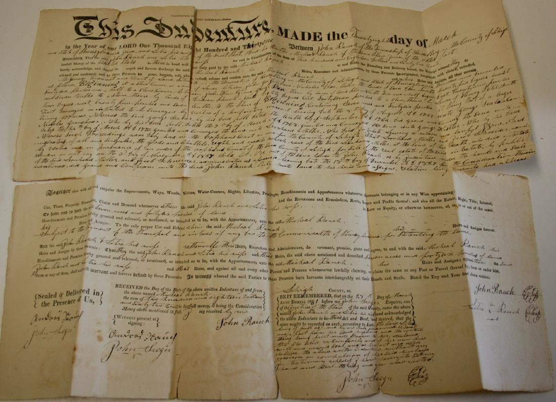 Documents: Lehigh, Pa. early deeds, 1860 - 5