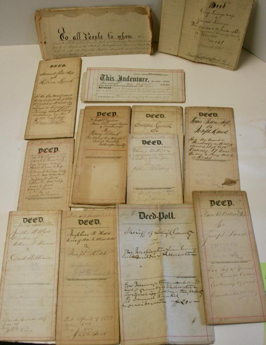 Documents: Lehigh, Pa. early deeds, 1860 - 7