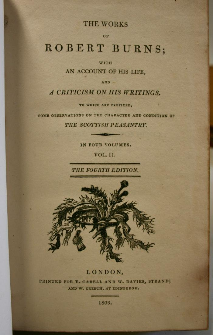Books: The Works of Robert Burns,  1803 - 6