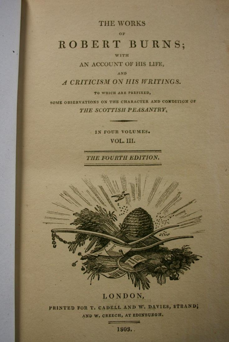Books: The Works of Robert Burns,  1803 - 7