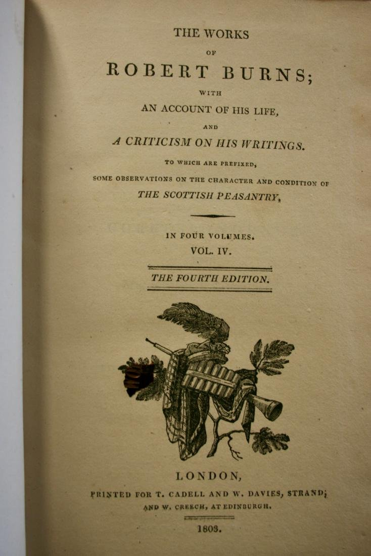 Books: The Works of Robert Burns,  1803 - 8