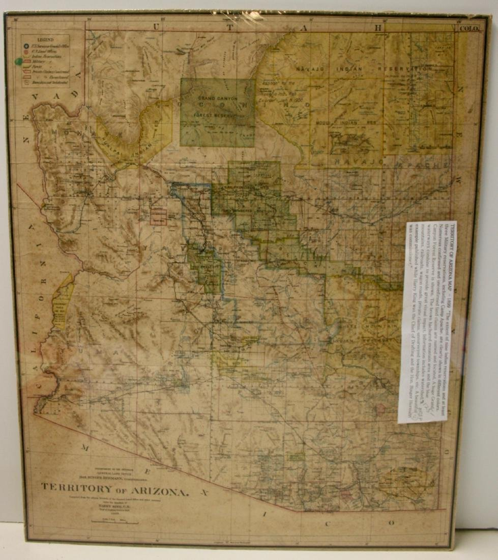 Map: Territory of Arizona, 1899