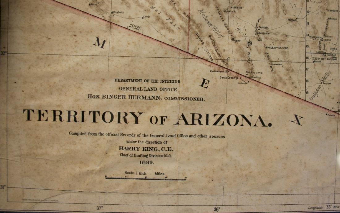 Map: Territory of Arizona, 1899 - 2