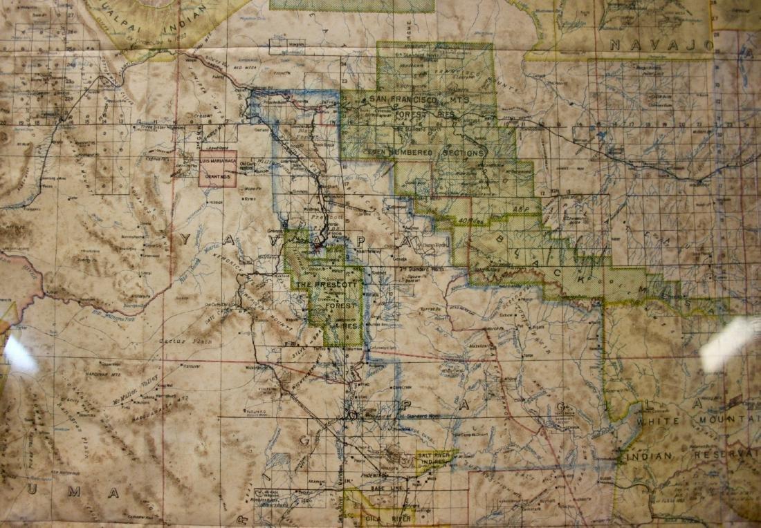 Map: Territory of Arizona, 1899 - 3