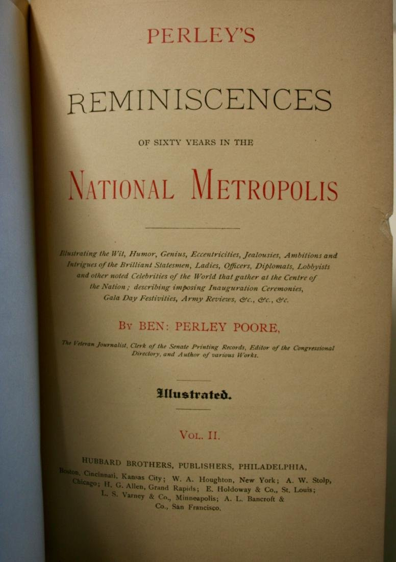 Books: Perly's Reminiscenses of Sixty Years, 1886 - 3