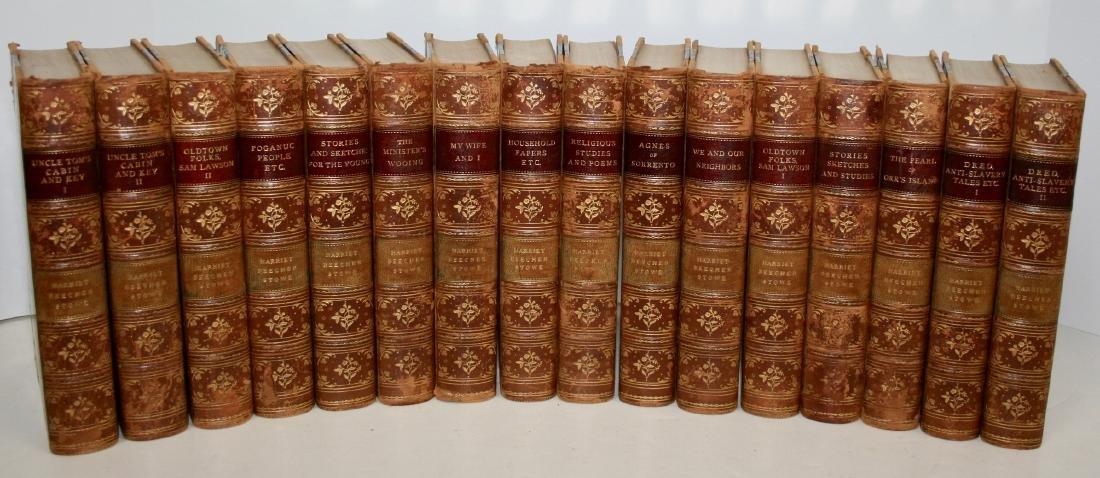 Books: 16 Vols Set Harriet Beecher Stowe's Works, 1896