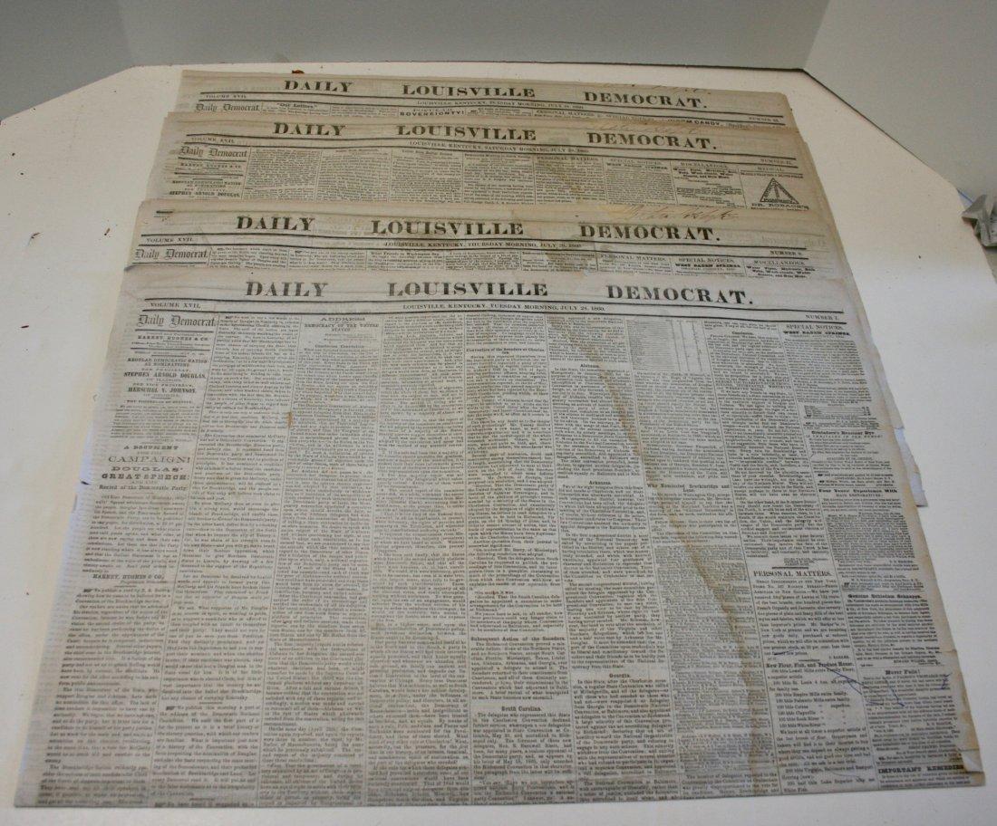 1860 Newspapers: Louisville, Kentucky