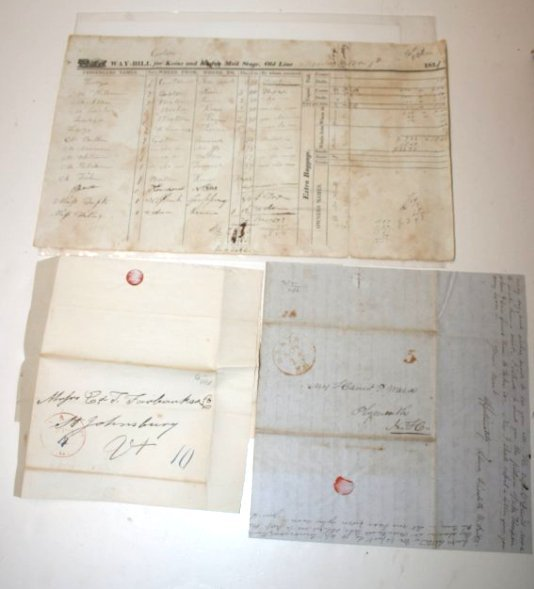 NH Documents & Stampless letters