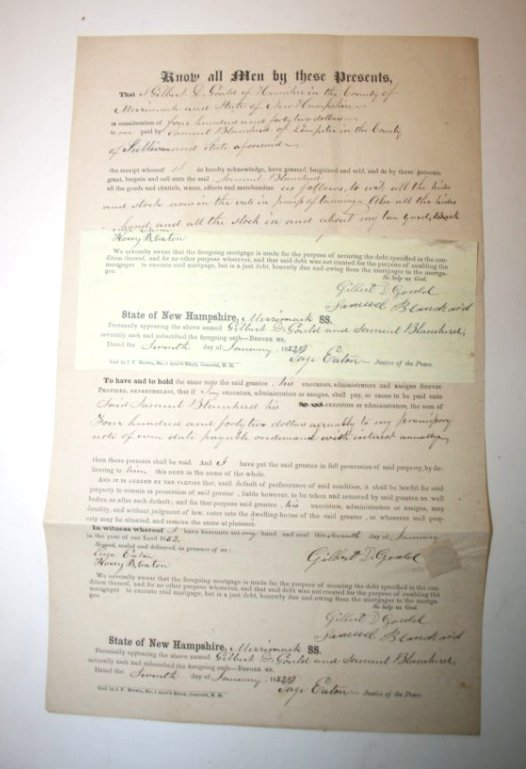 NH Documents & Stampless letters - 5