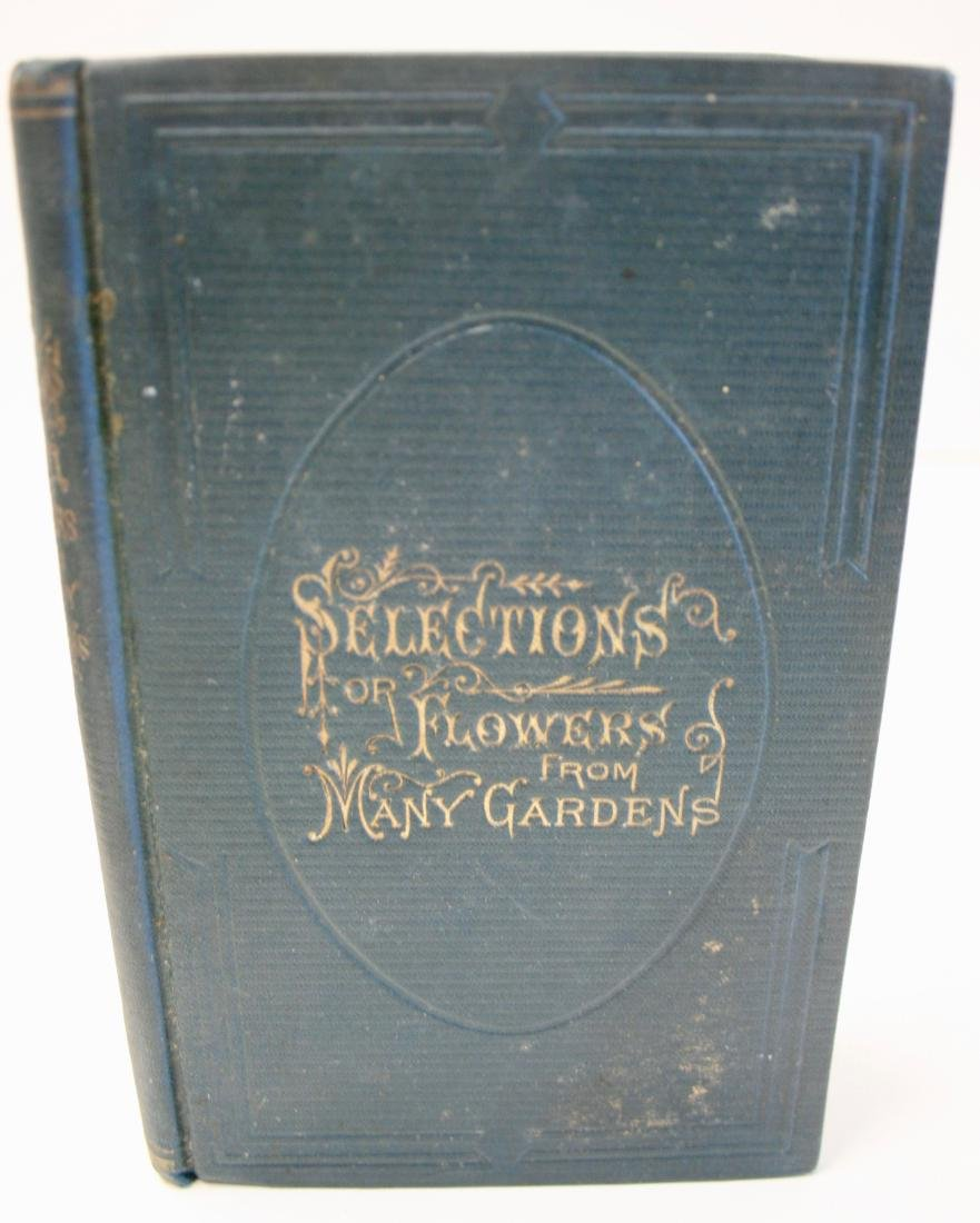 """Books: """"Selections of Flowers from Many Gardens"""" 1876 - 6"""