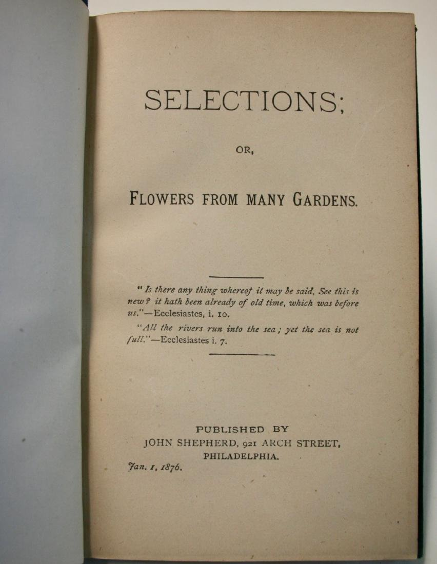 """Books: """"Selections of Flowers from Many Gardens"""" 1876 - 7"""