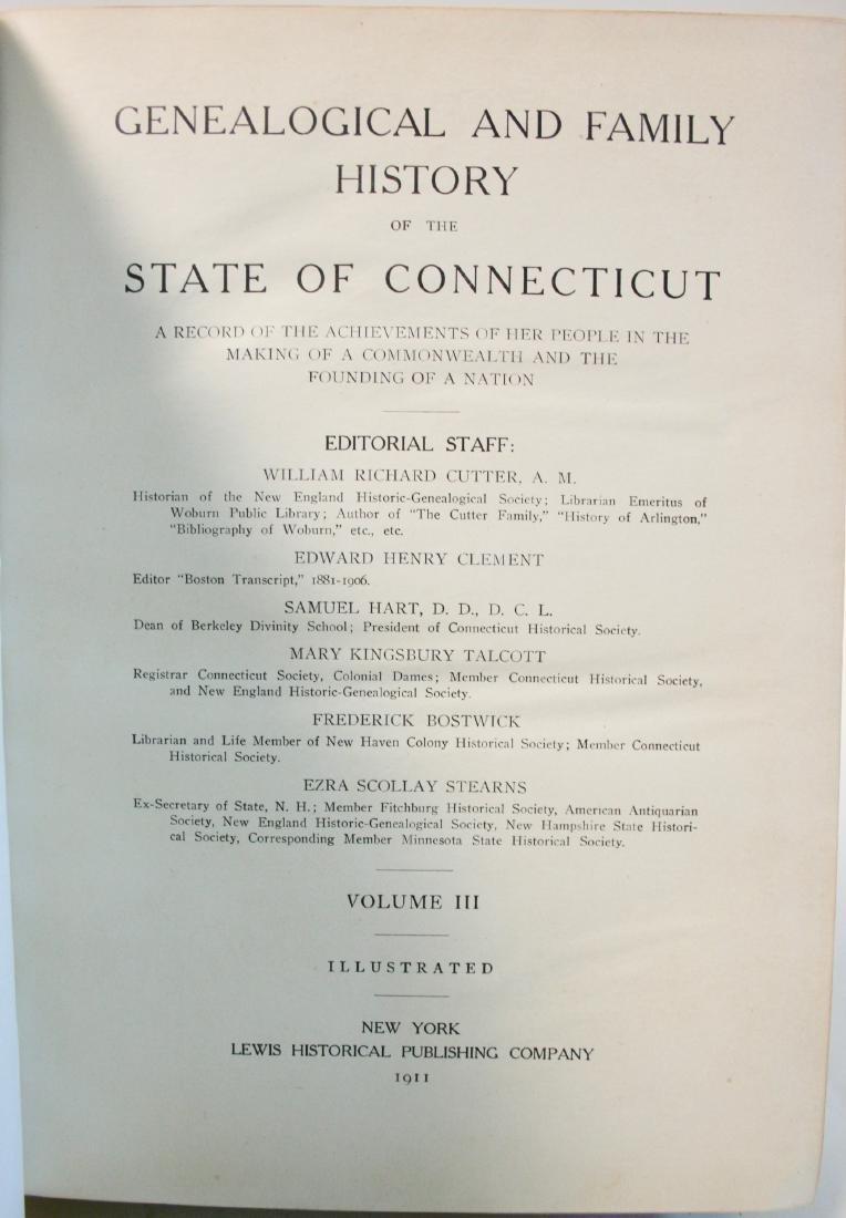 Books: Ct. Geneology 1911 - 9