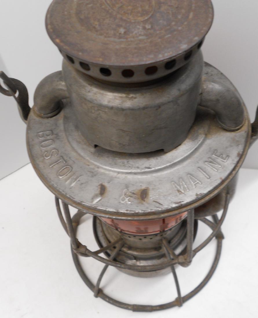 Boston & Maine Lantern Amber Etched Globe - 3