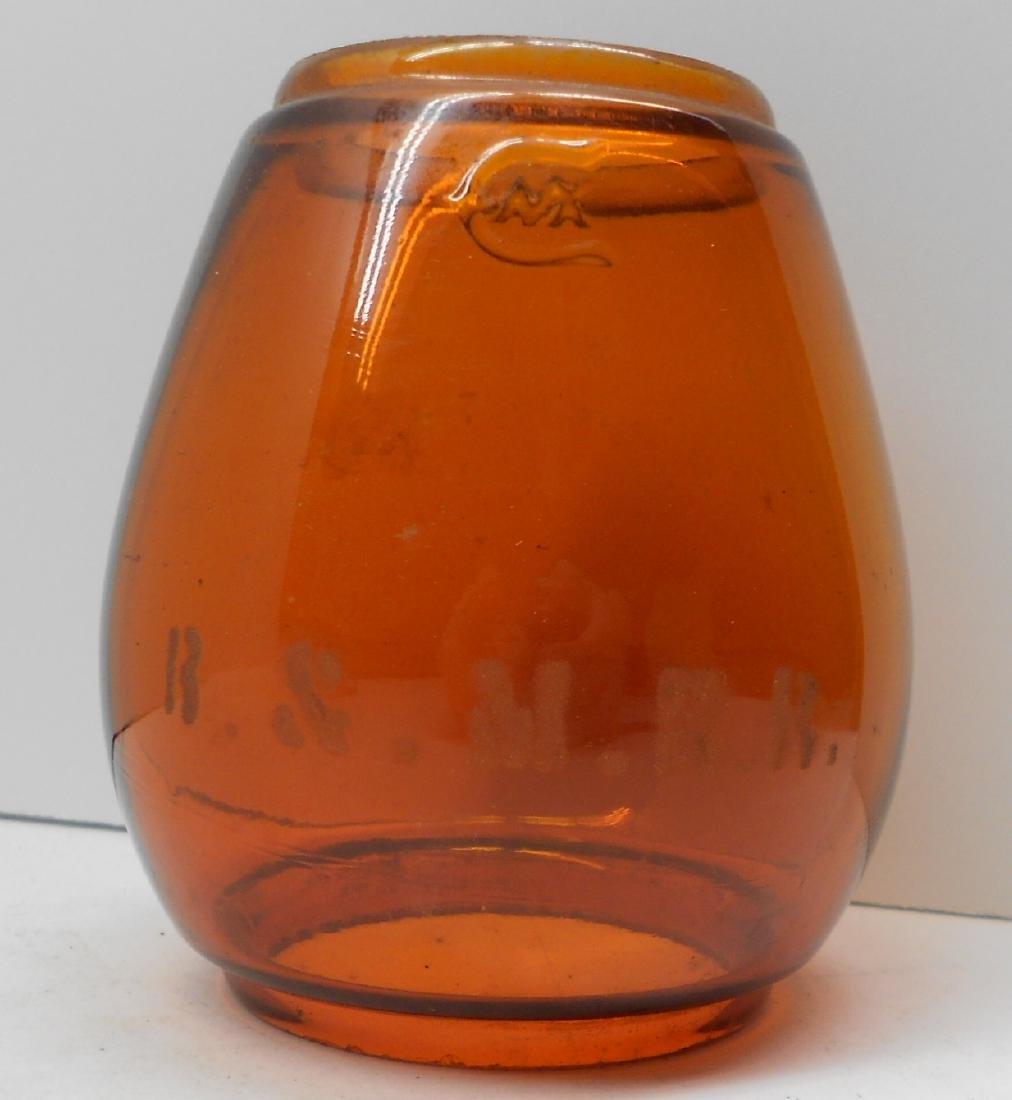 Boston & Maine Lantern Amber Etched Globe - 5