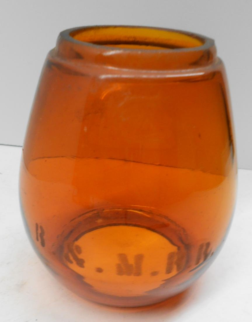 Boston & Maine Lantern Amber Etched Globe - 6