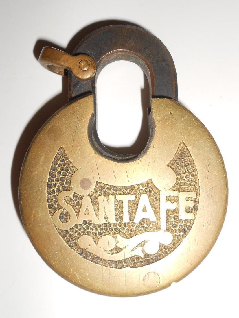 Santa Fe Brass Cast Pancake Lock