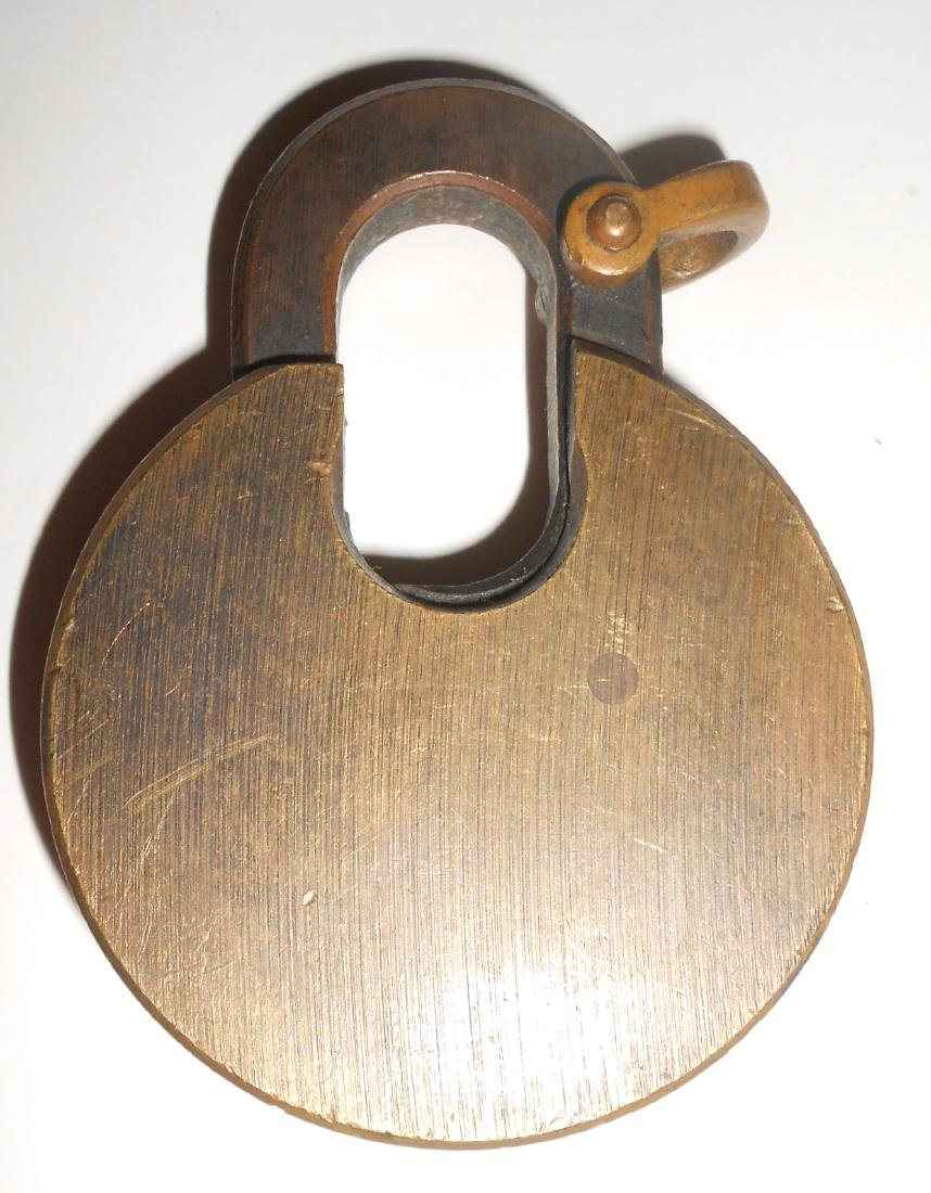 Santa Fe Brass Cast Pancake Lock - 2