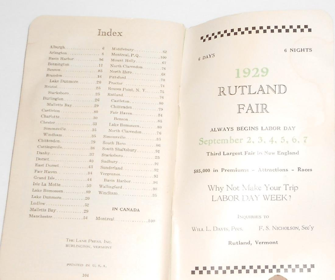"New England Travel Booklets"" CNE, Rutland - 6"